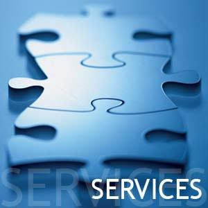 picture of 3 puzzle pieces put together with the word services